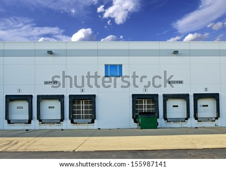 Shipping and Receiving Storage Warehouse Gates. Logistics Photo Collection.