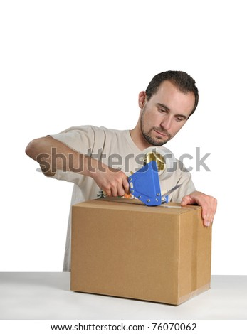 Shipping Clerk isolated on white