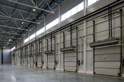 Shipping gates in the finished goods warehouse