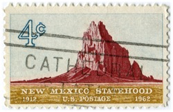 Shiprock, New Mexico statehood stamp