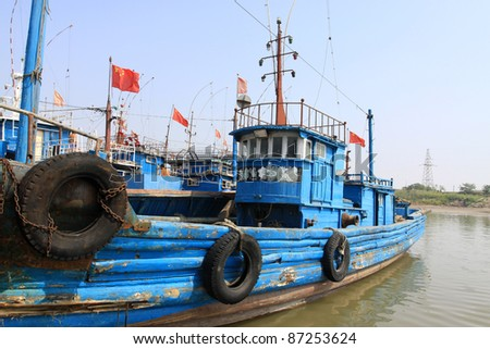 ships docked at the dock in north china