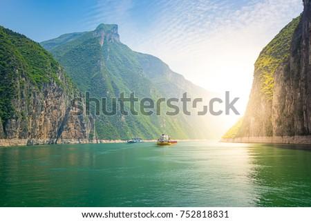 Ships on the Yangtze River, China