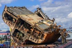 Shipwreck ad shipyard