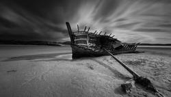 shipwreck. Bunbeg ShipWreck, Bad Eddie, Bunbeg, Co. Donegal, Ireland, Bad Eddie wreck