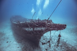Shipwreck in Hawaii in one hundred feet of water