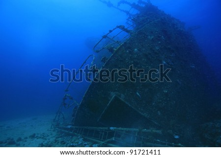 Shipwreck in the red sea