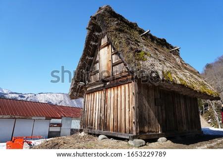 Shirakawago traditional village is know gasshō-zukuri in Gifu , Japan UNESCO's World Heritage Sites.