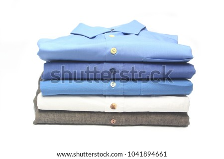 shirt folded and ironed in the dry cleaners #1041894661