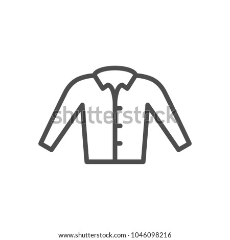 Shirt line icon isolated on white