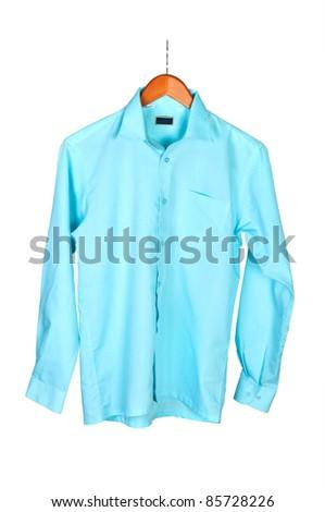 shirt on hanger isolated on white