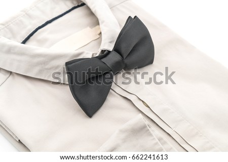 shirt with bow tie on white background #662241613