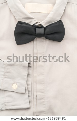shirt with bow tie on white background #686939491