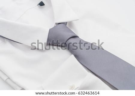 shirt with necktie on white background #632463614
