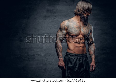 Agree, Men with beards tattoos and muscles