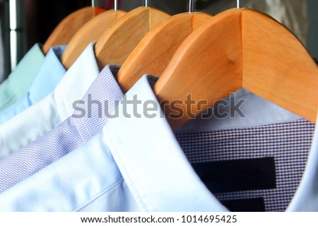shirts at the dry cleaners