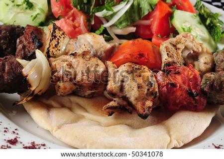 Shish kebab. - stock photo