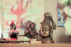 Shiva Altar. Shiva worship. pooja