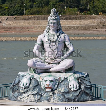 Shiva statue in Rishikesh  India - stock photoUttarakhand Shiva Statue Now