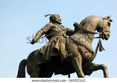 Shiva statue, Mumbai A statue of the Indian national hero  known as Shiva.   'Chhatrapati, Shri Shivaji Majaraj.