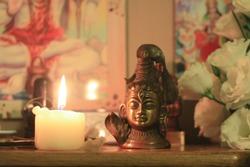 Shiva statue. Shiva Altar.Shiva worship