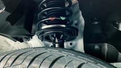 shock absorber strut with coil spring, suspension system of modern car