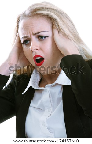 Shock and fear among business woman