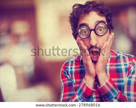 shocked crazy man