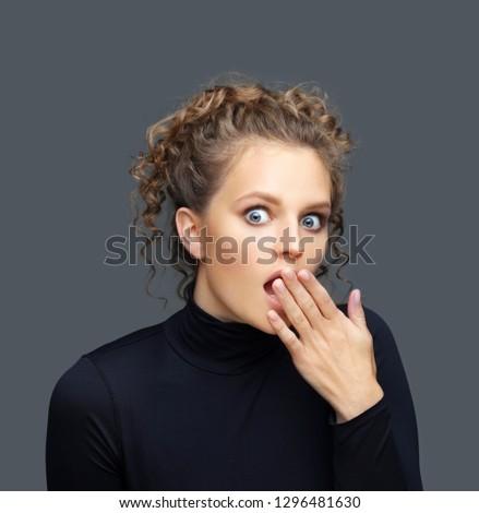 Shocked girl/surprised girl #1296481630