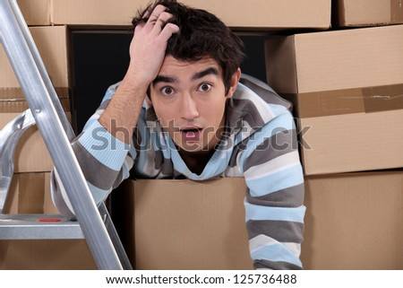 Shocked logistics worker