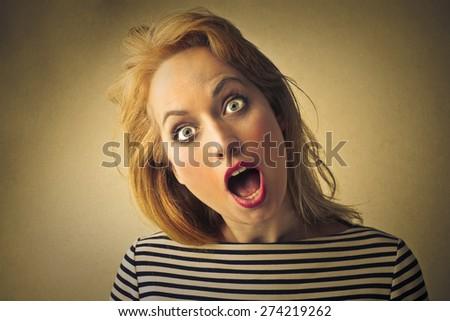 Shocked woman