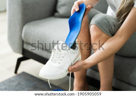 Shoe Sole In Footwear For Healthy Foot Arch Foto stock ©