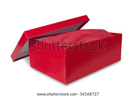 shoebox isolated on white with clipping path