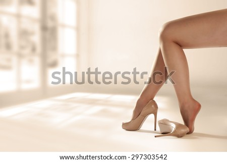 shoes and woman legs