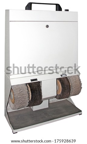 Shoes cleaner for fast cleaning shoe isolated on white background