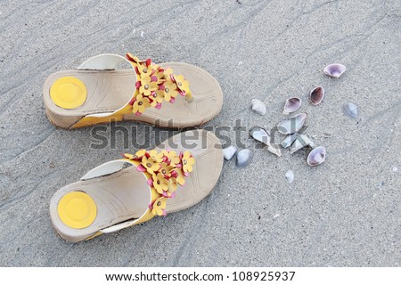 Shoes, Sand and Seashell