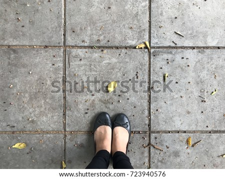 shoes selfie from above. feet...