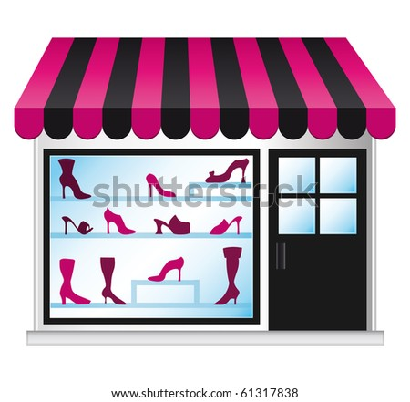 Shoeshop illustration.