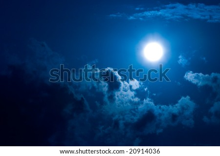 of the moon in darkness on