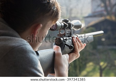 shooting from a airsoft rifle