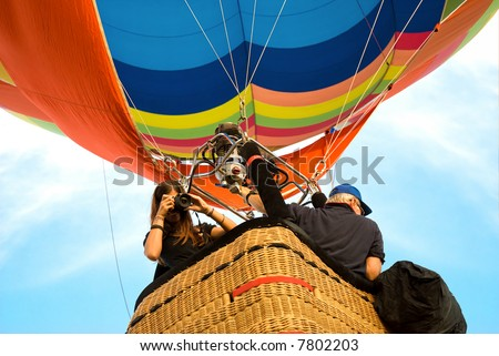 shooting from the hot air balloon