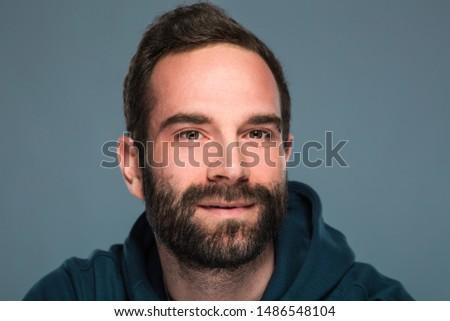 Shooting portrete man in studio Stockfoto ©