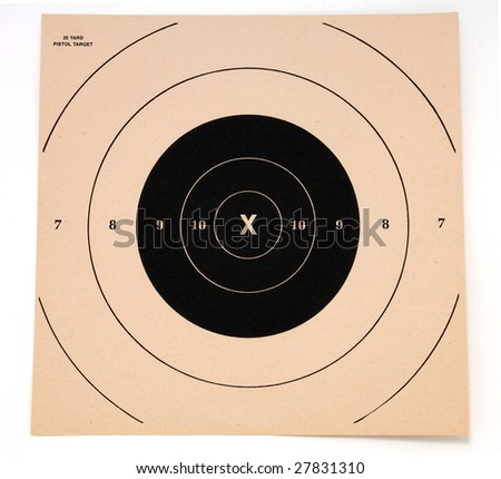 Shooting target, isolated