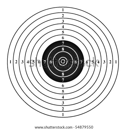 Shooting target. Isolated