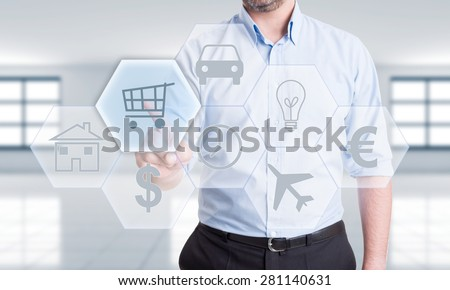 Shop, buy or pay online for car, house, utilities and plane tickets saving time. Use euro or dollar.