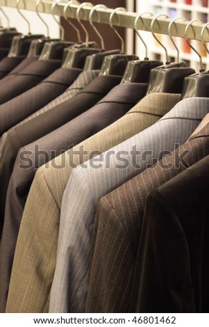 Shop for men's clothing - stock photo