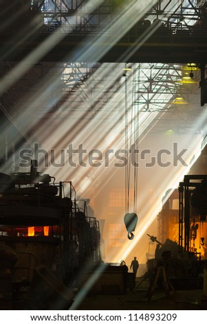 Shop foundry in rays of light