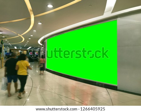 Shop Front Signage Mockup with Green Screen for Easily Replacement With Your Own Graphic