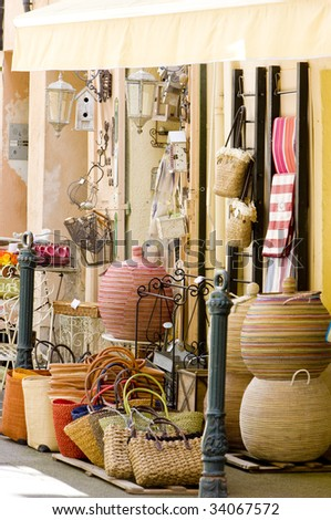 shop in Aix-en-Provence, Provence, France - stock photo