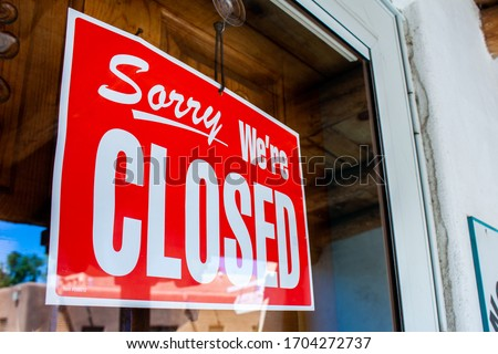 Shop in Old Town, Albuquerque closed indefinitely due to the COVID-19 pandemic Сток-фото ©