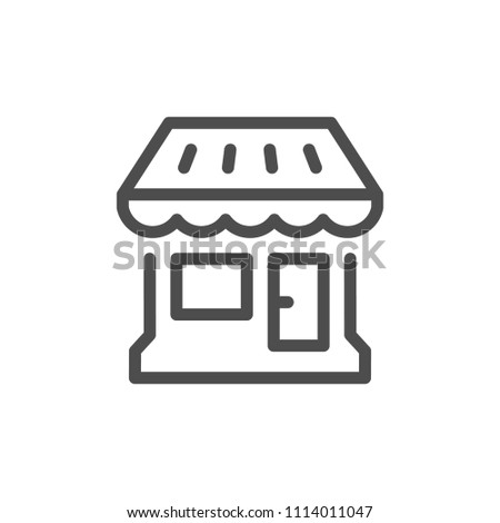 Shop line icon isolated on white